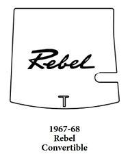 1967 1968 AMC Rebel Conv Trunk Rubber Floor Mat Cover w/ A-043 Rebel Script