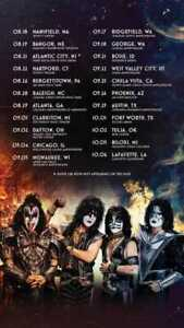 KISS - End of the Road Tour 2021 Posters   Unframed Paper Posters