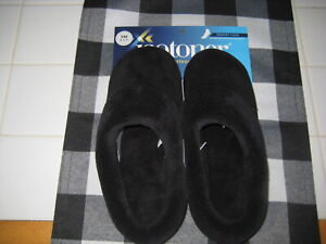 ISOTONERS MEMORY FOAM WOMENS BLACK SMALL 6.5-7 NEW WITH TAGS SLIPPERS