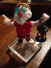 Disney Blown Glass Snow White Seven Dwarfs Doc with Lantern Figurine