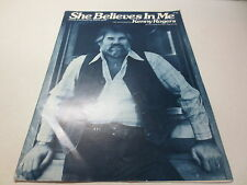 She Believes in Me sheet music by Kenny Rogers vintage 1977 Angel Wing Music