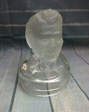 Ronald Reagan frosted glass bust by KENKORP PGH PA