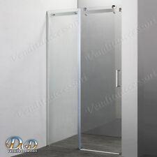Box cabina doccia per nicchia  120 cm porta scorrevole parete cristallo 8 mm