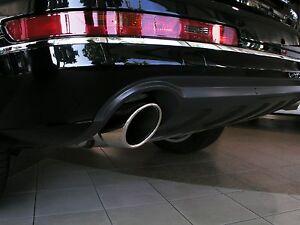 2 Cubiertas de Tubo de Escape En Acero Cromo Nuevo (por Favor Masa Nota) Audi Q7