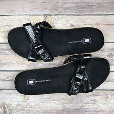 Bandolino womens size 7.5 black criss cross flip flop sandal shoes New w/o box