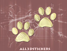 3D Sticker Decal Resin Domed Paws Adhesive Decal  Beige
