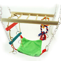 Hanging Suspension Bridge Hammock Hamster Mouse Cage Accessory Toy New UKLQ