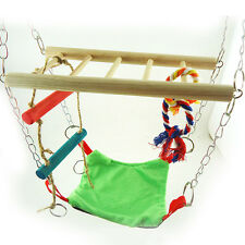 Hanging Suspension Bridge Hammock Hamster Mouse Cage Accessory Toy New pols