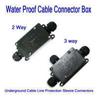 Outdoor Waterproof IP65 Electric Cable Connector Wire Junction Box 2/3 ways UK