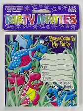 PARTY ART Childrens Magical Dragons Themed 8-Pack Party Invitations