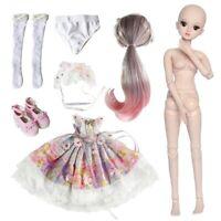 1/3 Kugelgelenk Mädchen 60cm BJD Puppe Doll Mit Full Set Kleidung Outfit Puppen