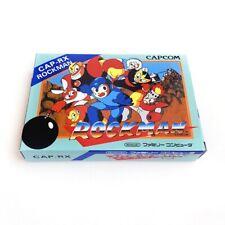 ROCKMAN Mega man box - Empty custom replacement case with tray Capcom Famicom