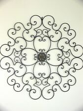 XXXL FRENCH WALL ART DECOR 1m diametre WROUGHT IRON MURAL  NEW black