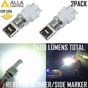 AllaLighting 3157 Back Up Reverse,Turn Signal,Brake,Side Marker Light Bulb White