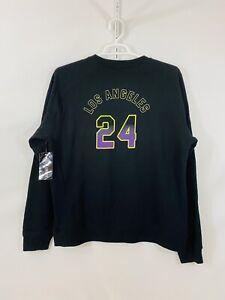 "Men's ""Los Angeles 24""Lakers Kobe Bryant Black Sweatshirt SZ XL NEW NWT"