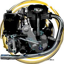 VELOCETTE KSS Classic Moto Retrò T shirtno, 110 by inished Productions