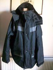 """Black Long Sleeve Hooded Waterproof Jacket, Zip/Snap, U/arm 50"""", Wetskins"""