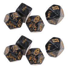 8pcs Adult Love Game Aid Spicy Dice Romantic Position Dies for Bedroom Foreplay