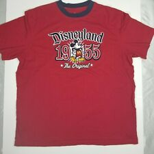 Disneyland 1955 The Original Mickey Mouse Red T-Shirt XL Embroidered Disney VTG