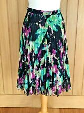 Whistles Floral Pleated Skirt - Size UK 10