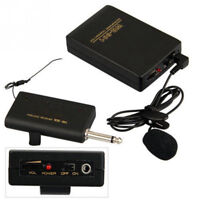 Wireless Microphone FM Transmitter Receiver Lavalier Lapel Clip Mic System