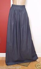 ESHAKTI BLUE LONG MAXI LIGHT WEIGHT COTTON BOHO DENIM SKIRT SZ XL-16 TALL