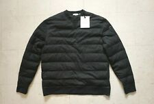 Moncler Wool Quilted Down Sweater Black XXL Size 6 New with Tags $1500