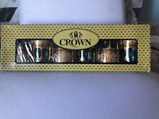 Dunasty Crown 6 Pieces Gold Decorated Tumbler Set