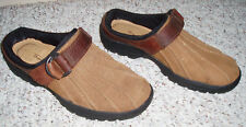 Thom McAn LEATHER Open Back Mules Clogs~Brown~Size 6 M