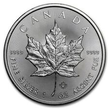 2016 $ 5 Dollars Canadian Maple Leaf 1 oz .9999 Silver Coin