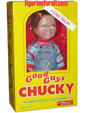 "CHILD'S PLAY TALKING CHUCKY 15"" ""GOOD GUY HAPPY MEGA DOLL Sound Bride Mezco"
