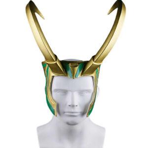 Thor 3 Loki Helmet Mask Props Devil Horns PVC Halloween Props Hat Model