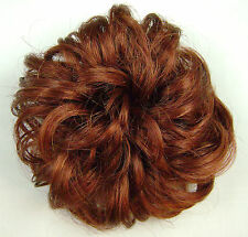 "Scrunchie #130 Fox Red 3"" Synthetic Hair Ponytail Holder Wig America Mona Lisa"