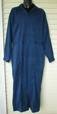 Vtg Men's Para-Suit Long Sleeve Work Suit Shop Machanics Blue Coveralls 48 R