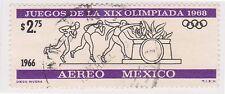 (MCO-384) 1966 Mexico 2p.75 black & purple air (B)