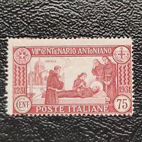 Italia año 1931 7º Centenario de la muerte de San Antonio  Nº 277