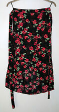 Ladies Atmosphere multicoloured thin polyester skirt size 8, length 76cm