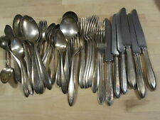 33 pcs Patrician Community Plate flatware (1914)  tarnished needs cleaning