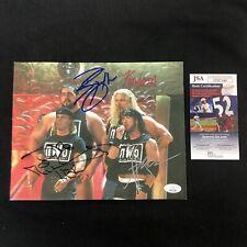 New World Order NWO WWE Signed 8x10 Photo JSA COA Michaels X-PAC Nash Big Show