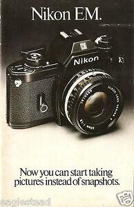 Camera Brochure - Nikon - EM - 1982  (CB22)