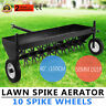 "Lawn Core Plug Aerator 40"" Pull Behind Ride On Mower New 10 Spike Wheels Active"