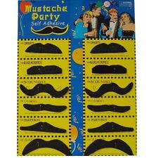 1x Set of 12 Beards Fancy Dress Carnival Moustache glue false beard 2016 GRU A