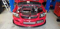 SPP Cam Angle Sensor & Engine Heat Shield Cover Black, Mitsubishi EVO 6 7 8 9