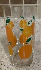 Vintage Drinking Glass with Oranges