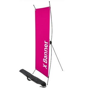 X Display Banner Poster Display Stand Trade Show Adjustable Telescopic Backdrop