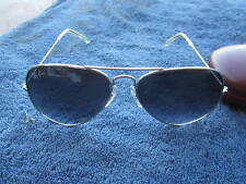 VINTAGE RAY BAN POLARIZED AVIATOR PURPLE LENS SUNGLASSES #3025 58014-140