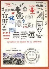 1969 - FDC CARTE 1°JOUR - EXPOSITION TIMBRES DE LA LIBERATION -TIMBRE Yt.1601