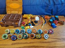 Lot of 17 BeyBlade Toys Metal Rare + Remote Launchers + Carrying Case