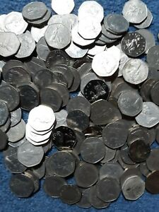 LOT OF 158 GREAT BRITAIN 50p COINS