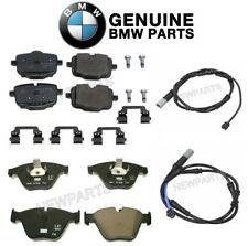 For BMW F06 F12 640i 640i xDrive Front and Rear Disc Brake Pad and Sensors Kit